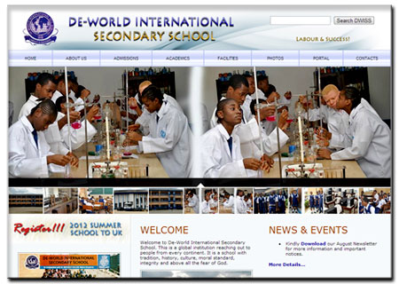 This is the online home of De-World International Secondary School, Port Harcourt – Nigeria.…